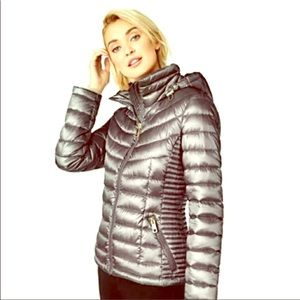 Calvin Klein Silver Packable Down Jacket